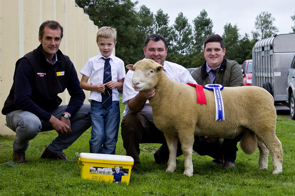 From left, Mark Crawford, Sponsor, Sam Wright, Thomas Wright, & Samuel Caldwell, Judge, with the Reserve Champion
