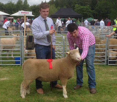 Andrew Knox with Second Reserve Champion and Judge, Robert Coulter