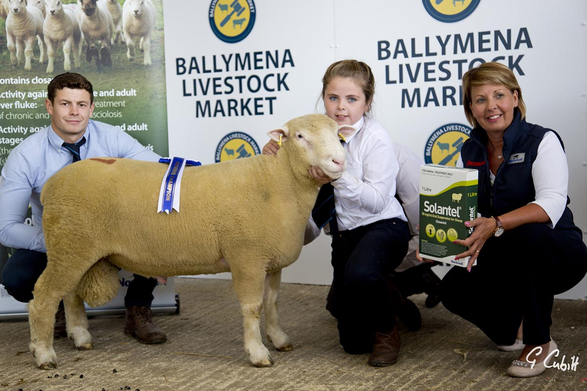 Joe Dufosee, judge, left, Rachel Moore and sponsor Jacqueline Hamilton, with the Reserve Champion