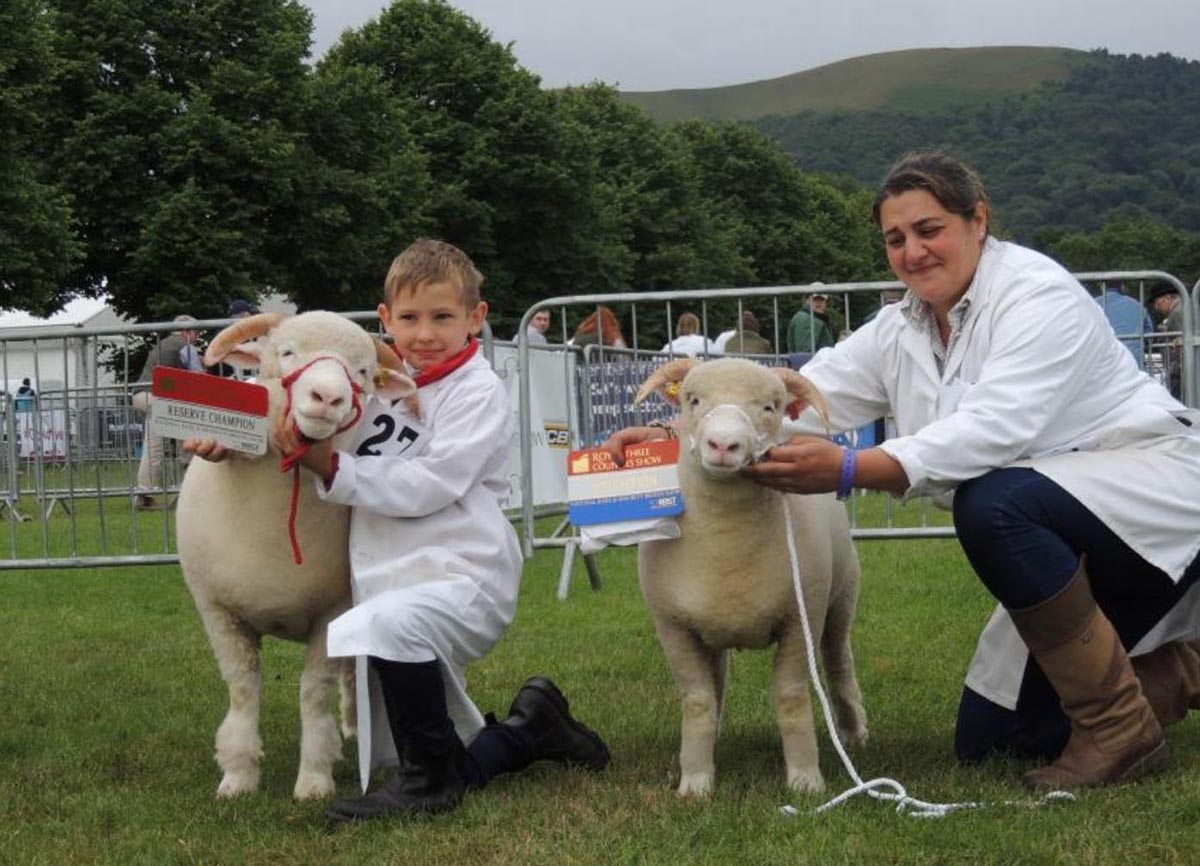 Left is Daniel Preece with Reserve Champion from Stoke Prior Flock and on the right Louise Crowther with the Champion from the Buckenhill Flock