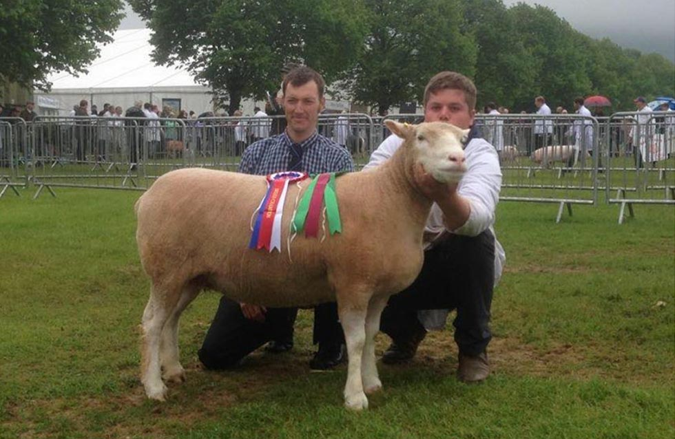 Ben Stayt with Breed Champion and Judge, Matthew Care